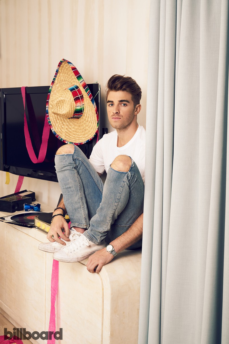 The Chainsmokers photographed on Aug. 30, 2016 at the Avalon Hotel in Beverly Hills, Calif.