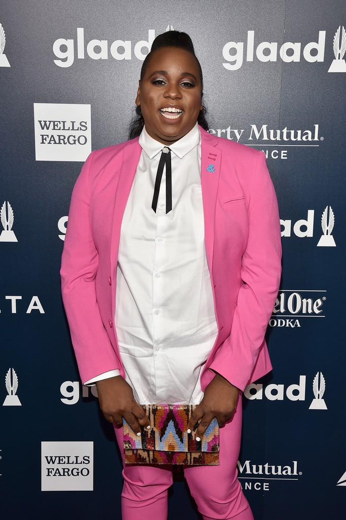 Alex Newell attends 28th Annual GLAAD Media Awards at The Hilton Midtown on May 6, 2017 in New York City.