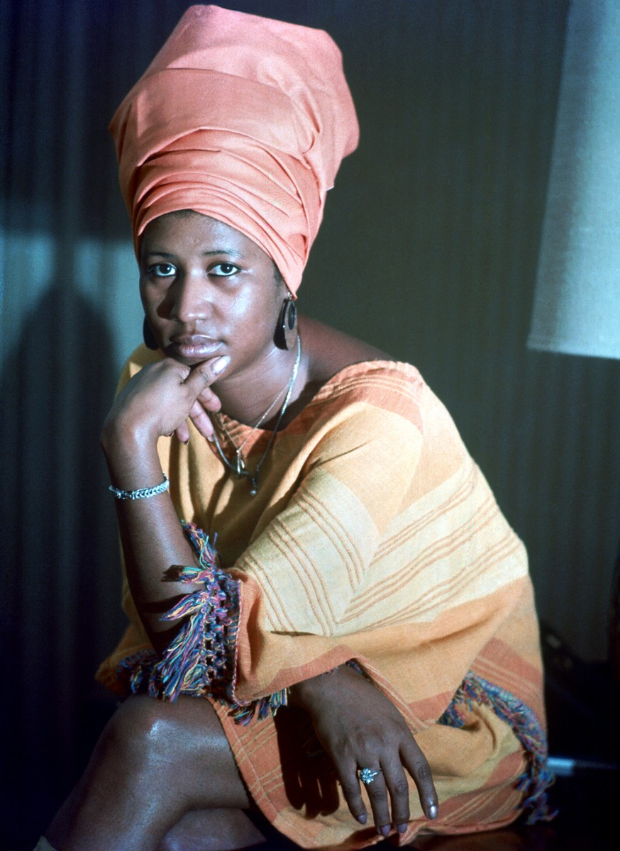 Aretha Franklin poses for a portrait in circa 1970.