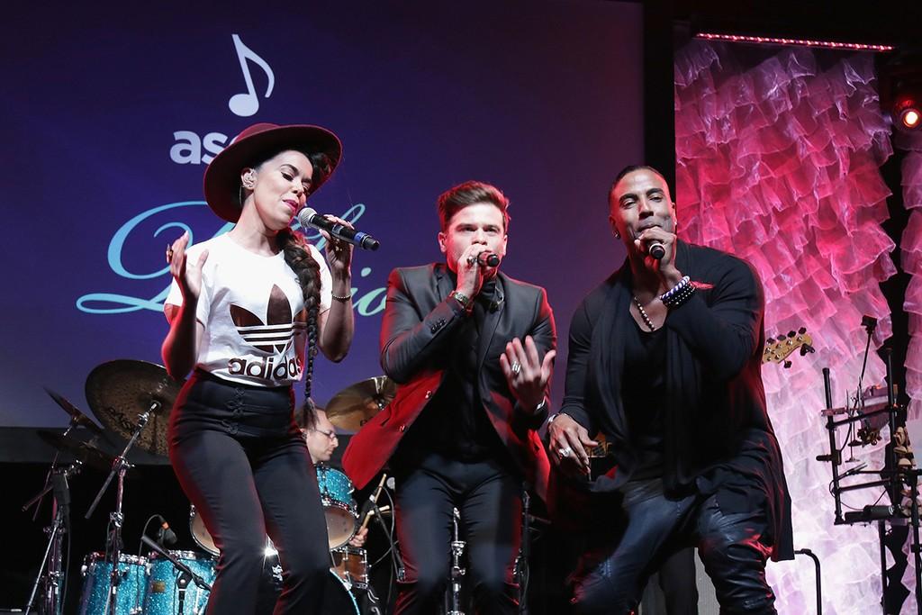 Beatriz, Pedro Capo & Yotuel at the 2016 ASCAP Latin Music Awards
