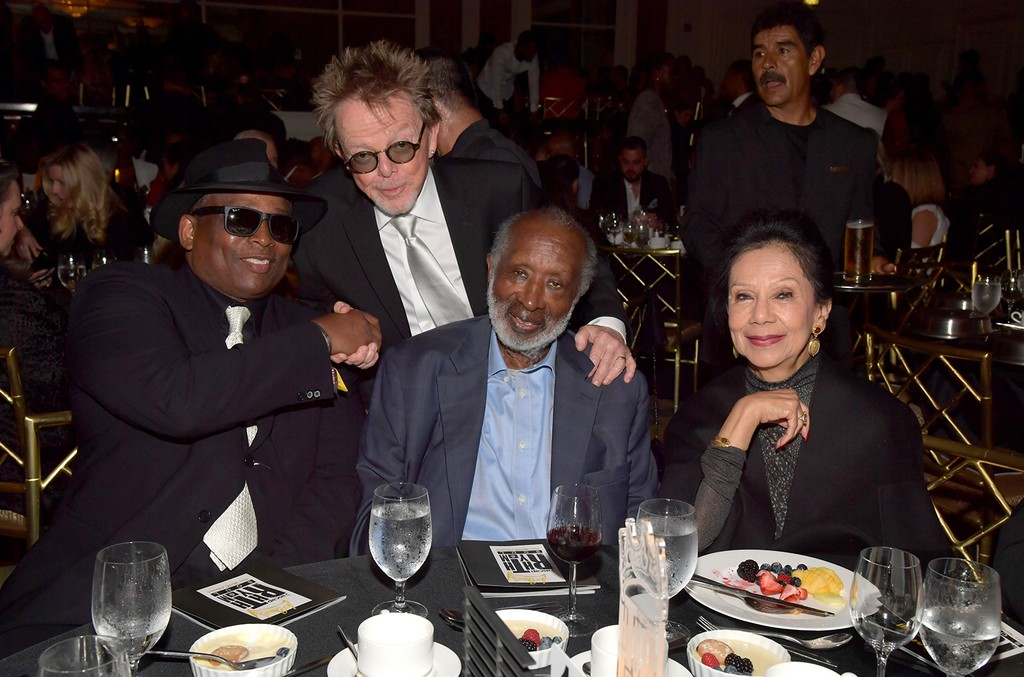 Honoree Jimmy Jam, ASCAP President Paul Williams, Clarence Avant and guest at the ASCAP 2017 Rhythm & Soul Music Awards at the Beverly Wilshire Four Seasons Hotel on June 22, 2017 in Beverly Hills, Calif.