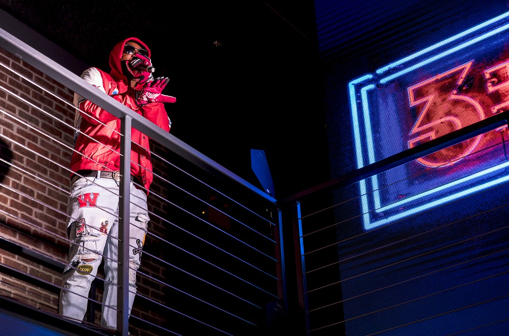 Cam'ron performs at Reebok's '3:AM' NYC launch event.