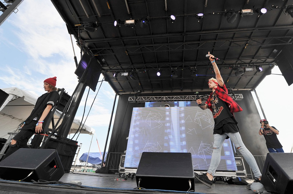 Cheat Codes performs at the 2016 Billboard Hot 100 Festival