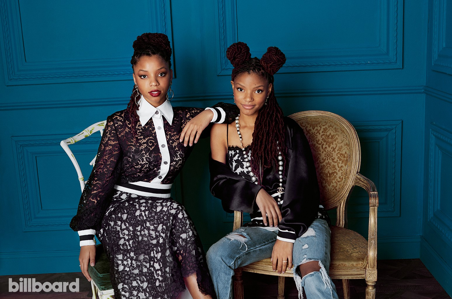 Chloe X Halle   photographed backstage at the 2016 Women in Music awards on December 9th at Pier 36 in New York City.