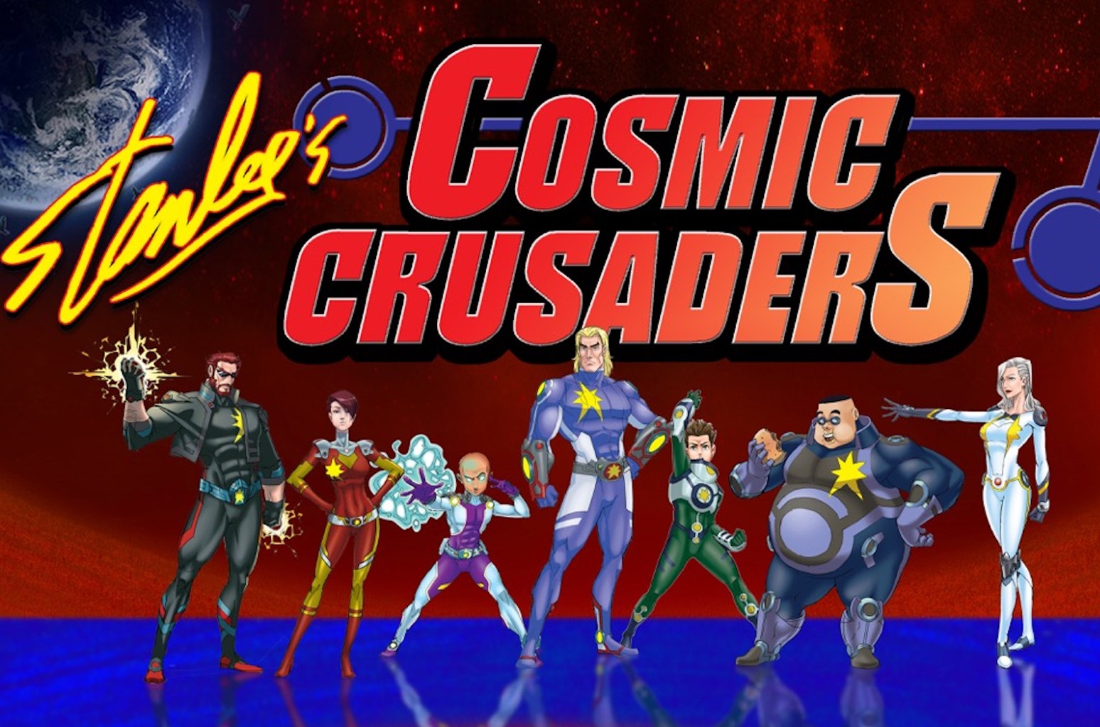 "Artwork for Stan Lee's ""Cosmic Crusaders."""