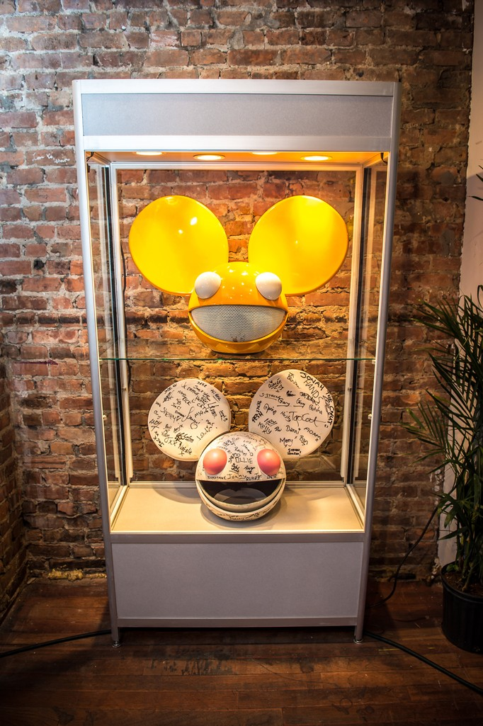 Deadmau5 heads at the 'Lost of Stuff in a Store' Deadmau5 pop-up shop on March 31, 2017 in New York City.
