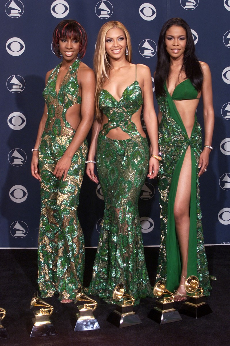 Destiny's Child with their Grammys backstage at the 43rd Annual Grammy Awards at Staples Center in Los Angeles on Feb. 21, 2001.