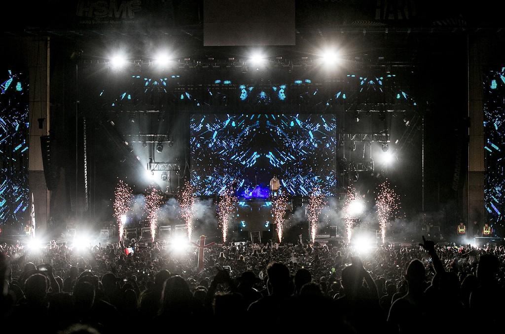 DJ Snake performs at Hard Summer Music Festival 2017