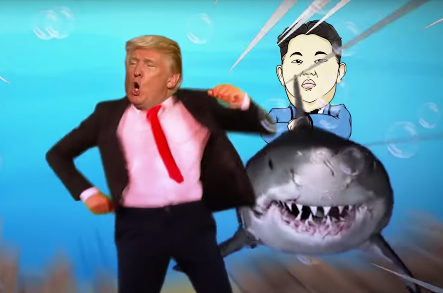 """Donald Trump sings 'Baby Shark'"" by Maestro Ziikos."