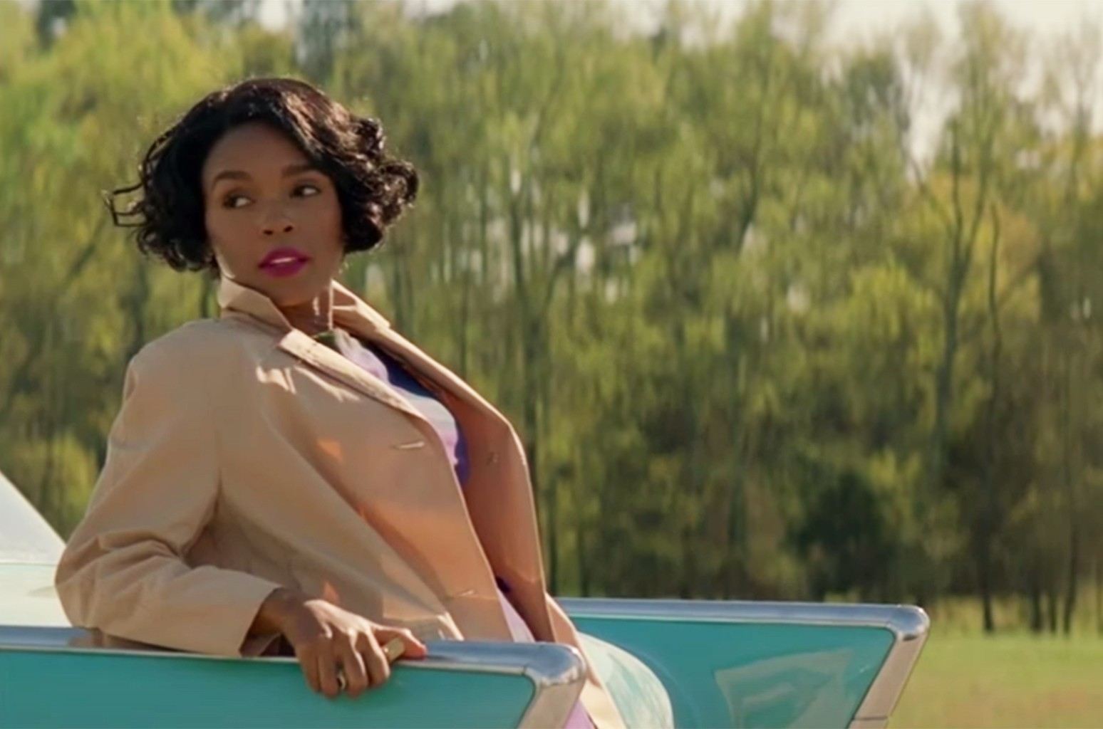 "Janelle Monae in the trailer for ""Hidden Figures."""