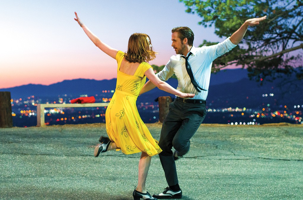Stone (left) and Gosling in La La Land.