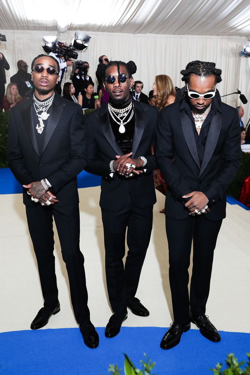 "Migos attend the ""Rei Kawakubo/Comme des Garcons: Art Of The In-Between"" Costume Institute Gala at Metropolitan Museum of Art on May 1, 2017 in New York City."