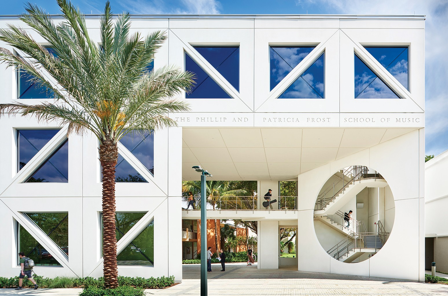 The Frost School of Music at the University of Miami opened a new building in 2015 with an environmentally friendly design.