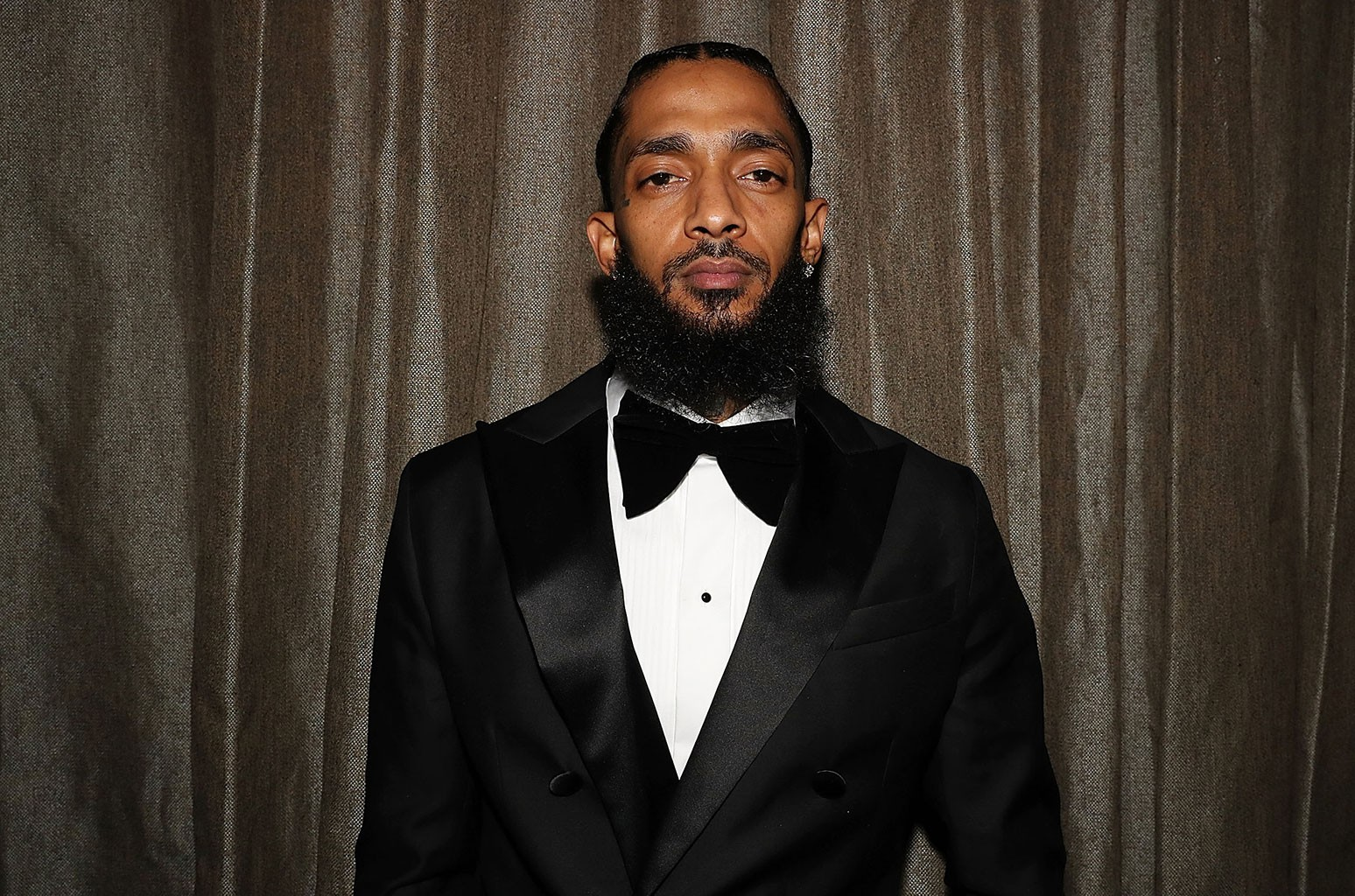 Nipsey Hussle photographed at The Peppermint Club on Feb. 8, 2019 in Los Angeles.