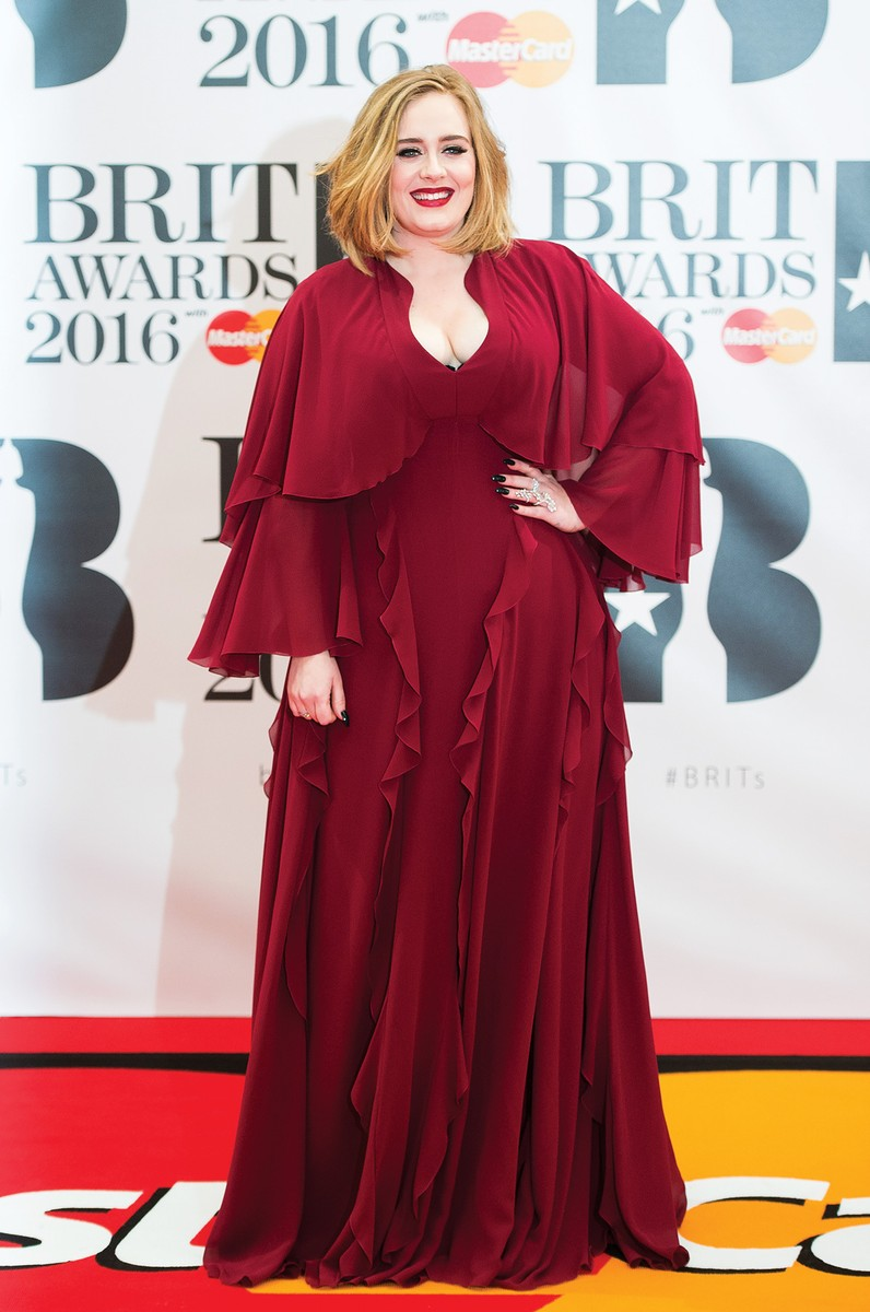 Adele attends the BRIT Awards 2016 at The O2 Arena on Feb. 24, 2016 in London, England.