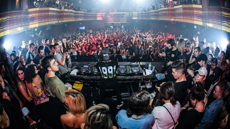 <p>Skrillex performs at Webster Hall in New York City.</p>