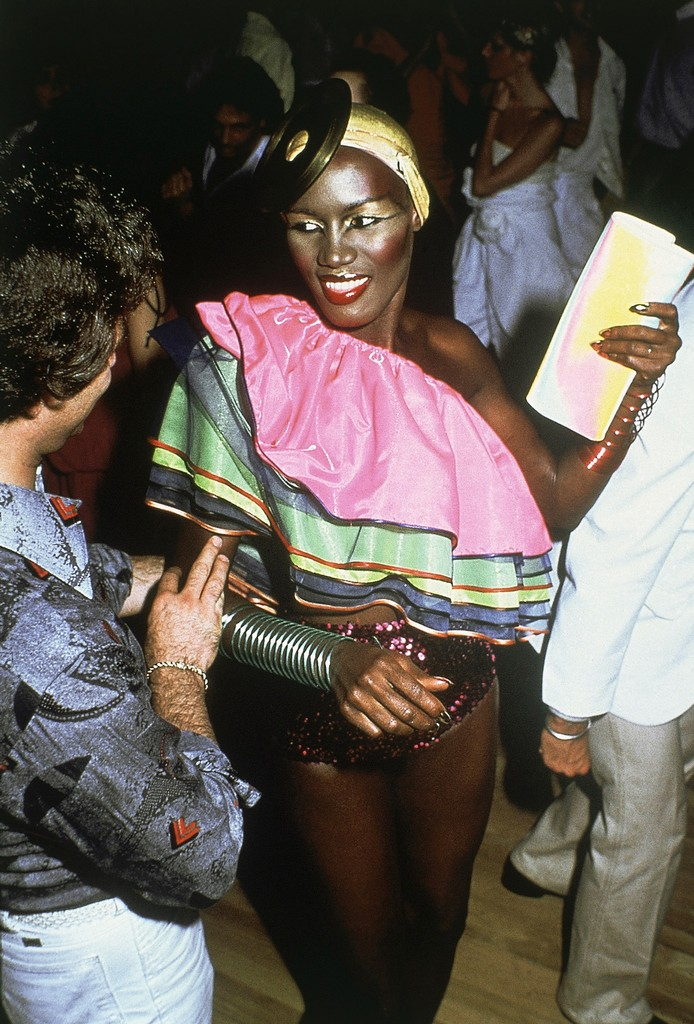 Grace Jones at Studio 54 in New York in March 1979.