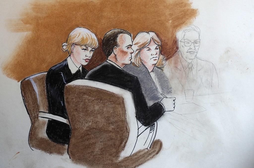 Taylor Swift Courtroom Sketch, 2017