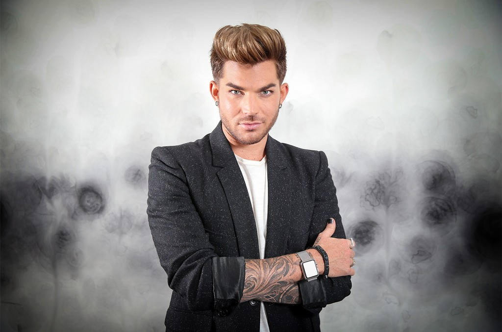 Adam Lambert poses during a photo shoot at The Darling Hotel in Sydney, New South Wales.