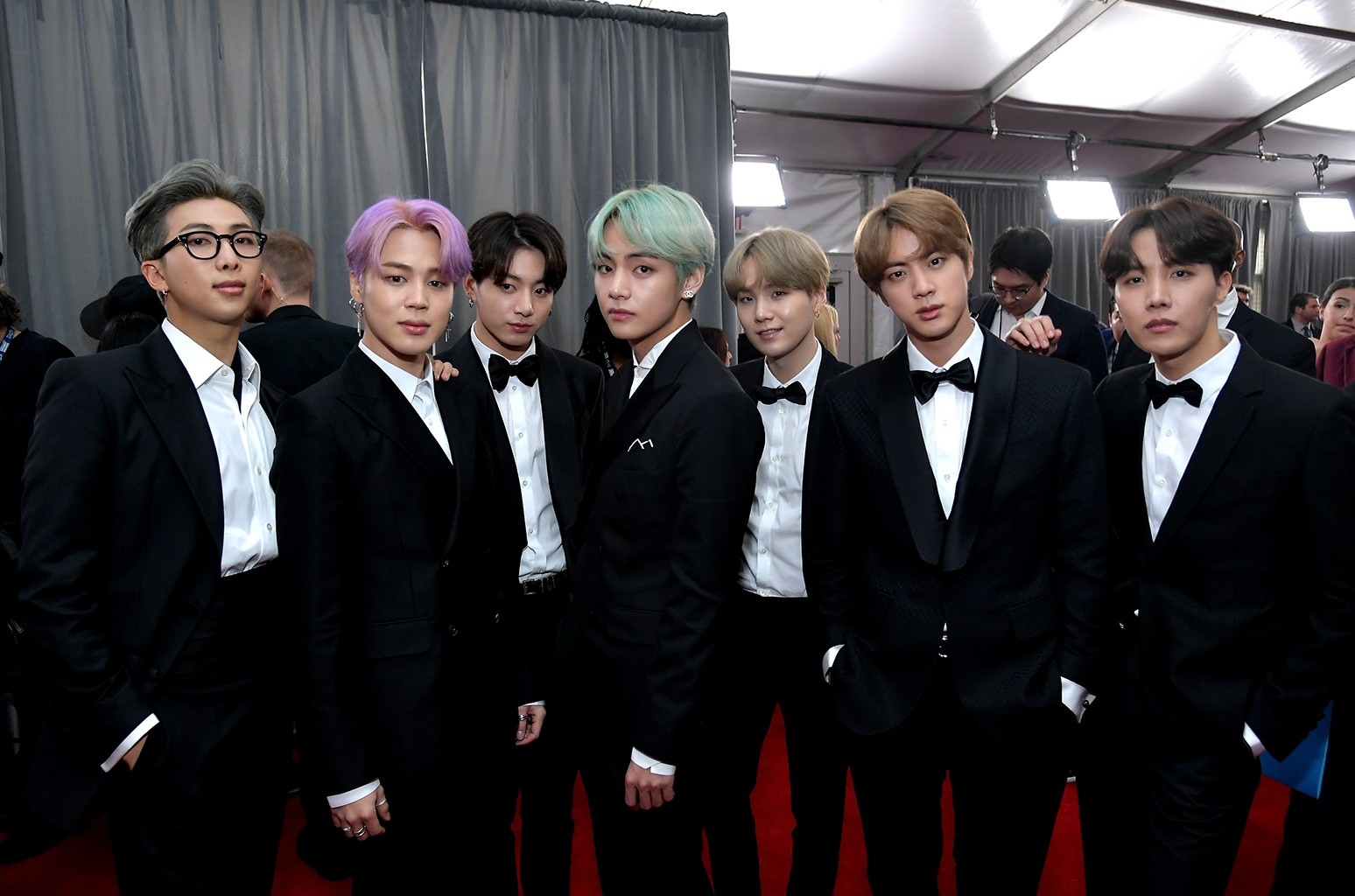 Bts At The 2019 Grammys Red Carpet See The Photos Billboard Billboard
