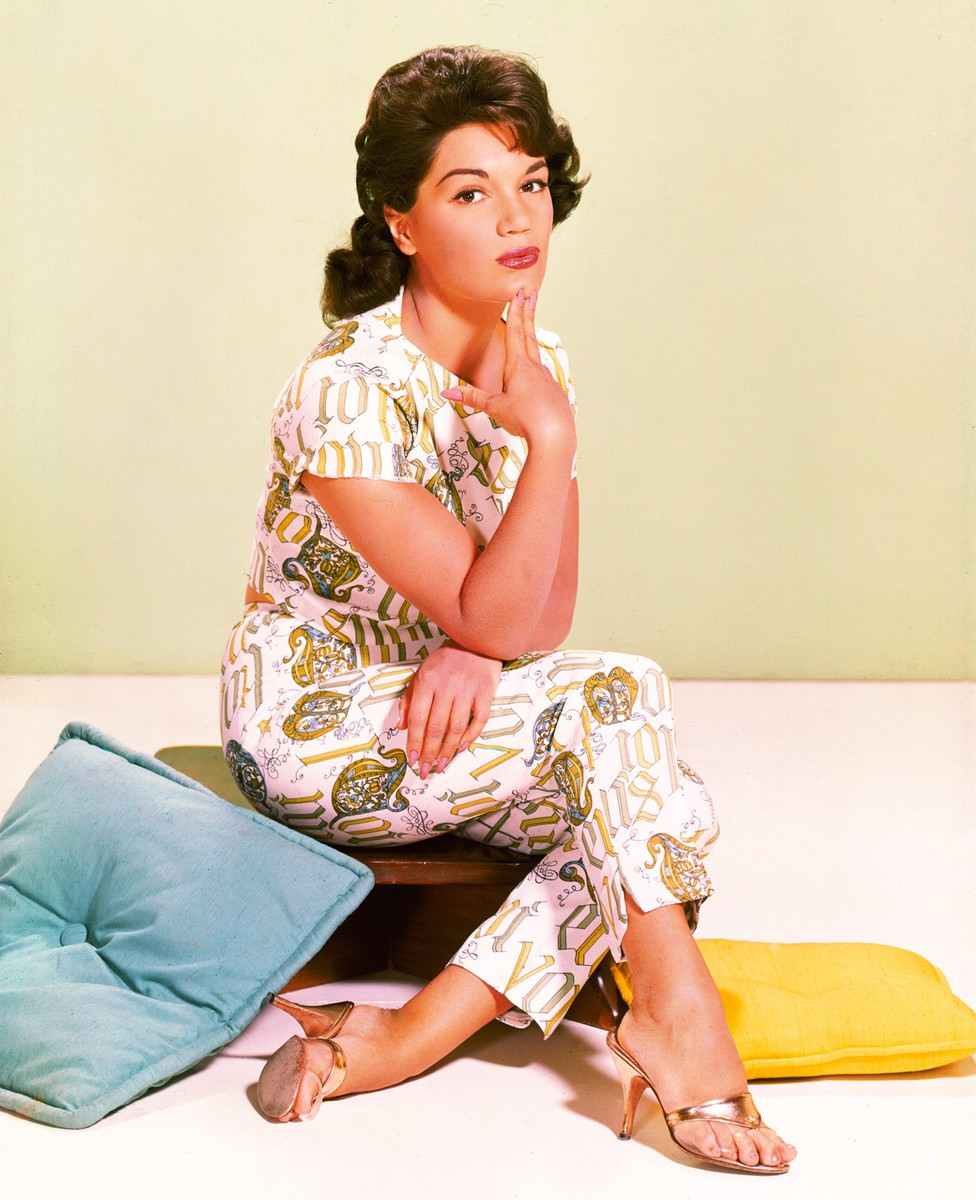 Connie Francis photographed in 1955.