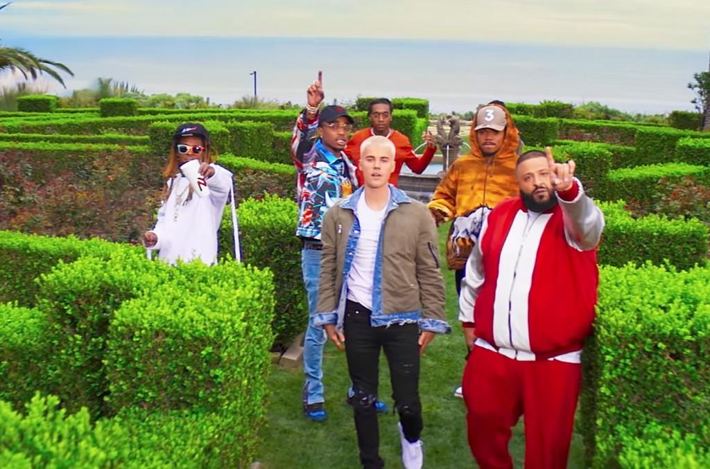 "DJ Khaled ft. Justin Bieber, Quavo, Chance the Rapper, Lil Wayne ""I'm the One"""