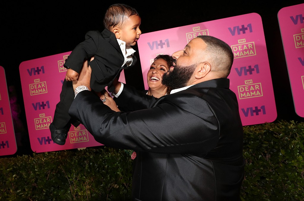 Asahd Tuck Khaled, Nicole Tuck, and DJ Khaled attend the VH1 'Dear Mama' taping on May 6, 2017 in Los Angeles.
