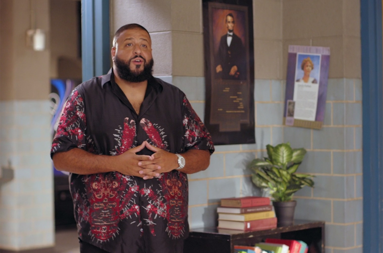 DJ Khaled in a video for Get Schooled.