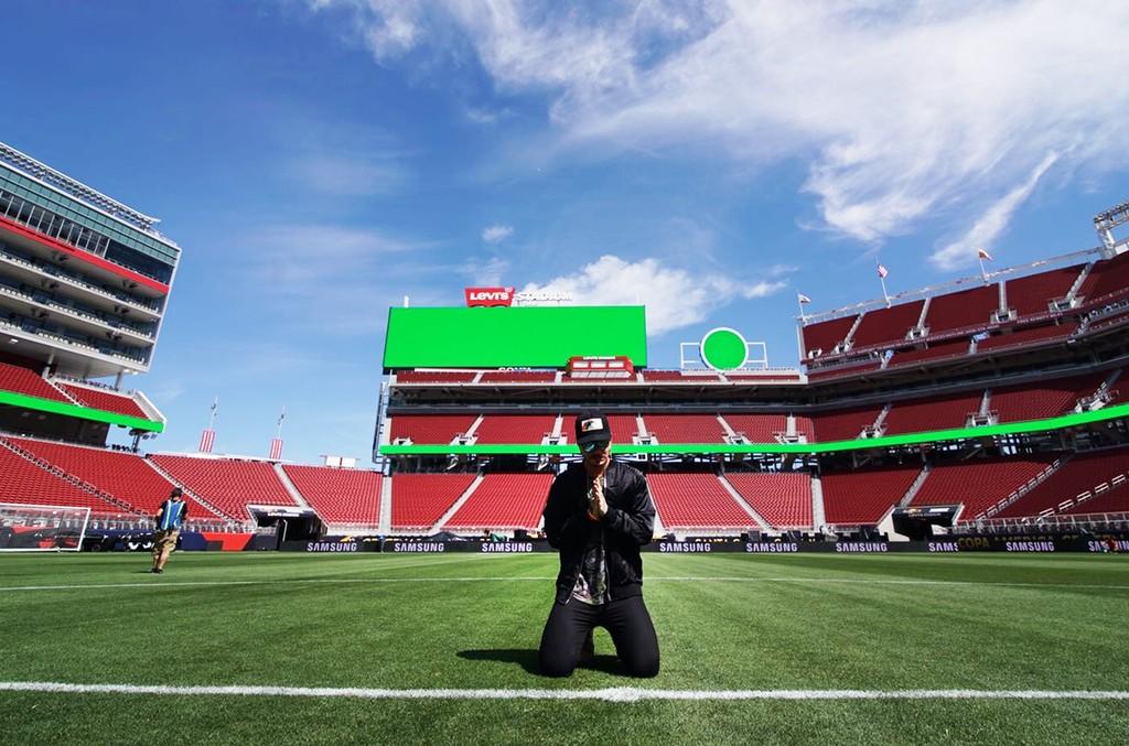 J Balvin before performing at the Copa America Centenario opening ceremony in Santa Clara, Calif. on June 3, 2016.