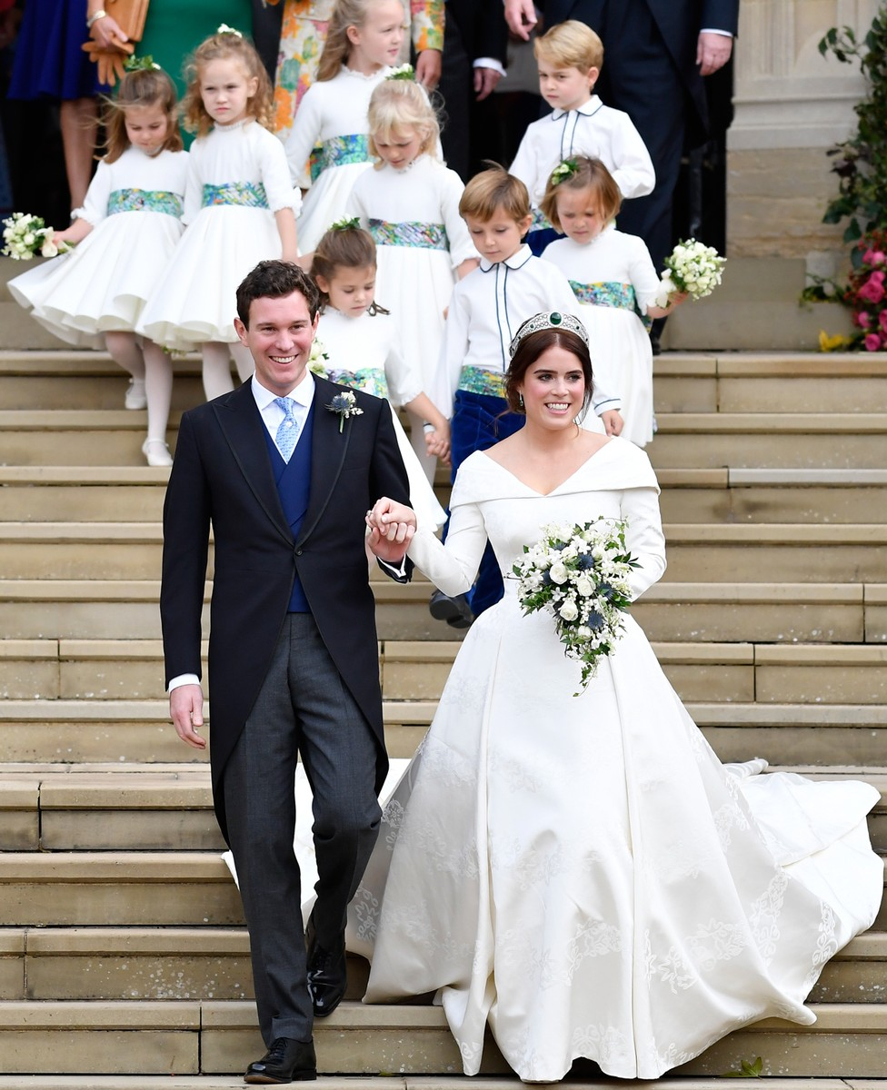 Princess Eugenie of York of York and her husband Jack Brooksbank