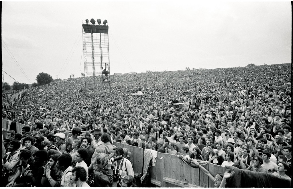 Crowds at the Woodstock Festival, Bethel, New York, 1969