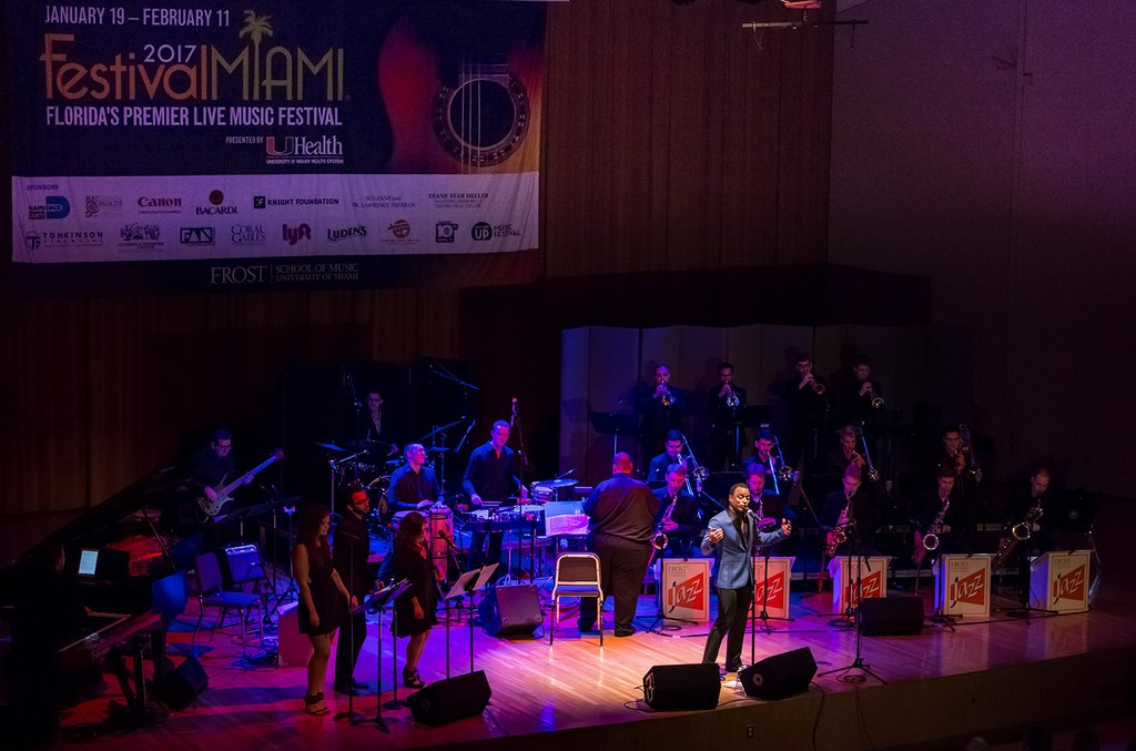 Jon Secada performs at Frost School of Music's 33rd Annual Festival Miami.