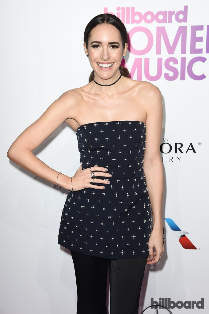 Louise Roe attends the Billboard Women in Music 2016 event on Dec. 9, 2016 in New York City.
