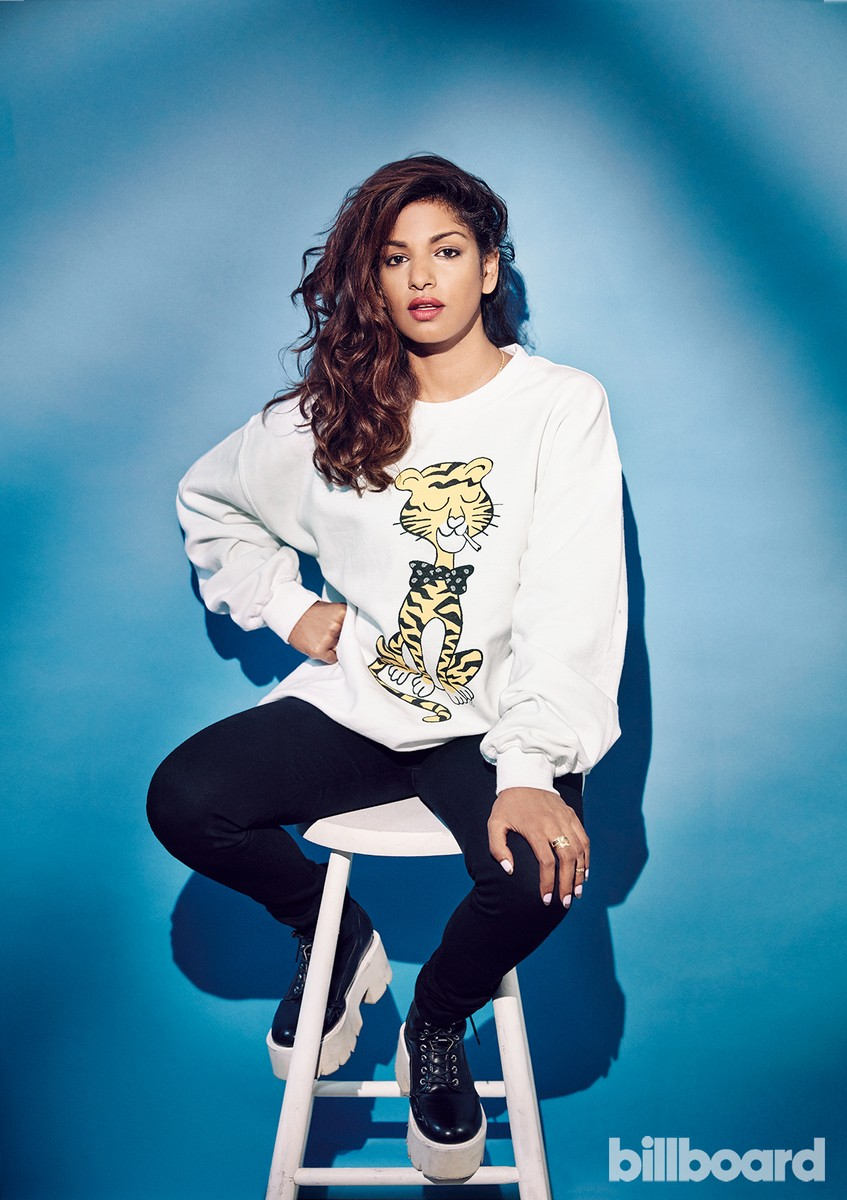 M.I.A. photographed on Aug. 29, 2016 at Lock Studios in London.
