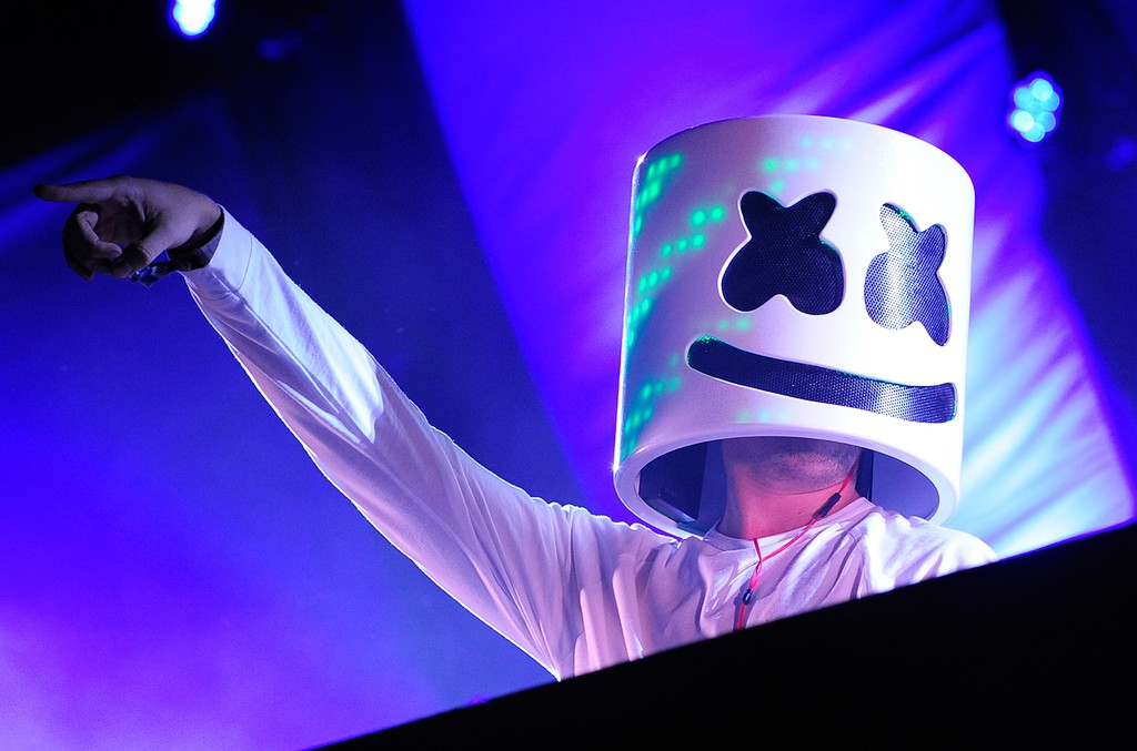 Marshmello performs during the 20th annual Electric Daisy Carnival