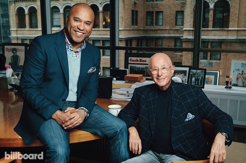 L. Londell McMillan (left) and Charles Koppleman (right) photographed on Jan. 18 at C.A.K. Entertainment in New York.