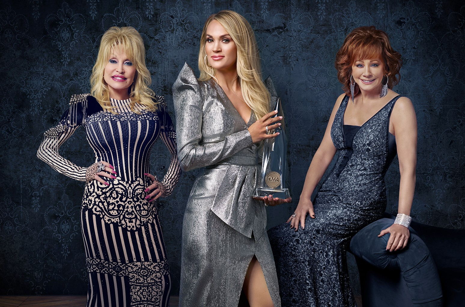 Carrie Underwood, Reba McEntire and Dolly Parton