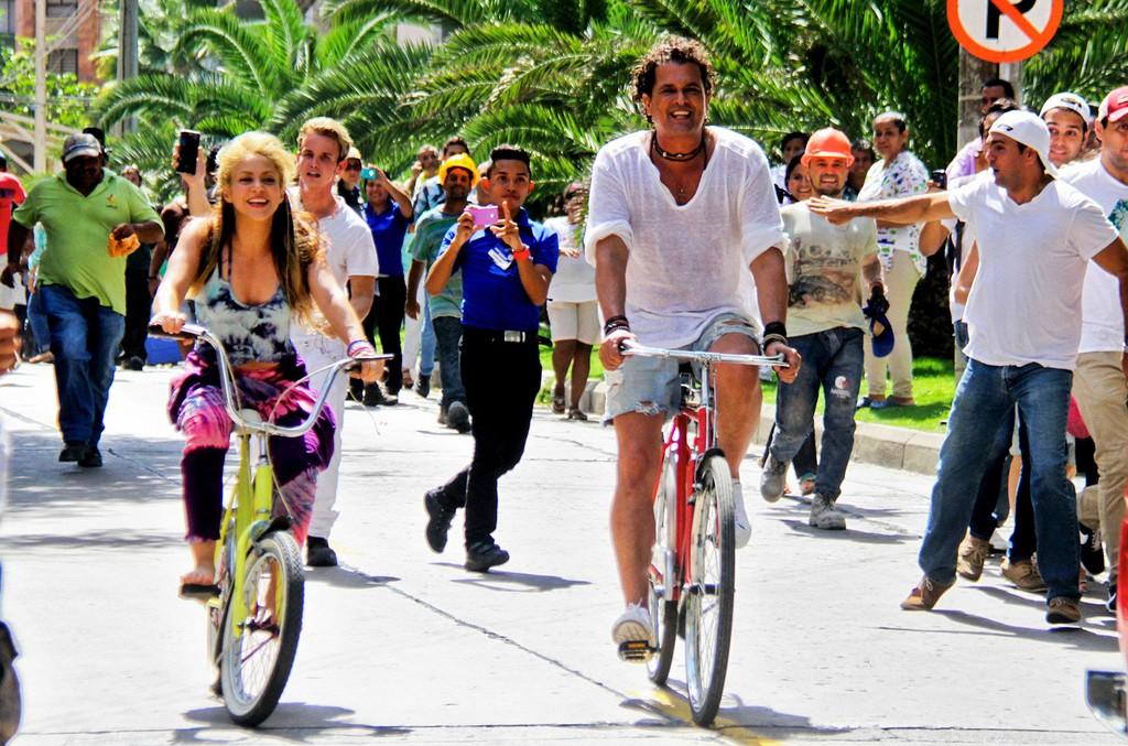 Shakira and Carlos Vives