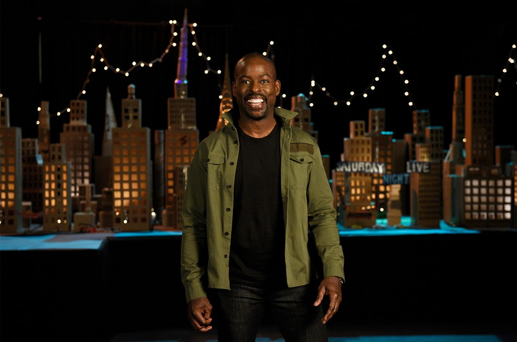 Sterling K. Brown during a promo in Studio 8H on Saturday Night Live.
