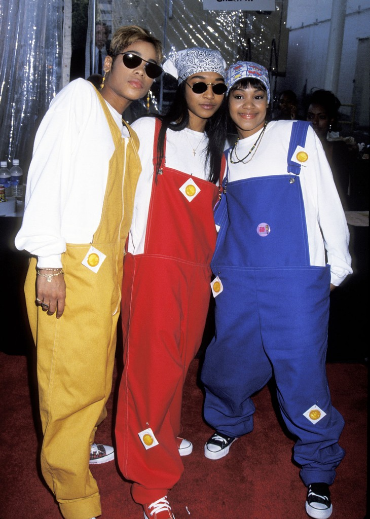 """T-Boz, Chilli and Lisa """"Left Eye"""" Lopes of TLC during 7th Annual Soul Train Music Awards at Shrine Auditorium in Los Angeles."""