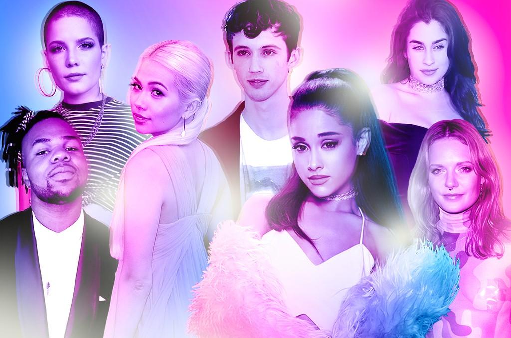 Clockwise from top left: Halsey, Troye Sivan, Lauren Jauregui, Tove Lo, Hayley Kiyoko & MNEK
