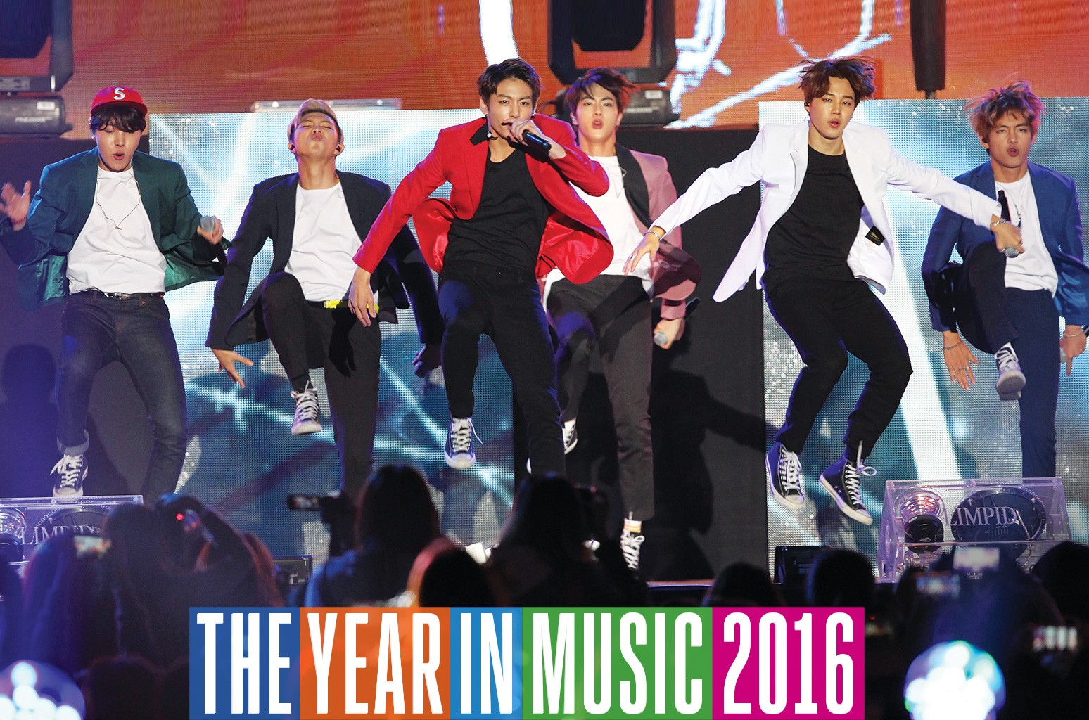 BTS perform onstage during the 2015 Asia Song Festival at Busan Asiad Main Stadium on Oct. 11, 2015 in Busan, South Korea.