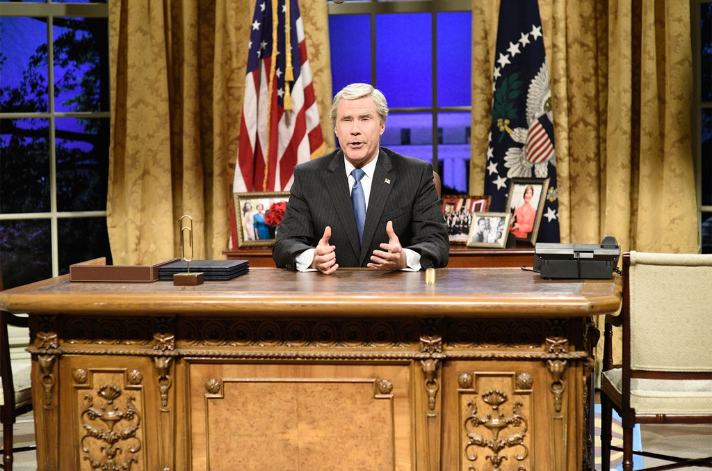 "Will Ferrell as George W. Bush during the ""Cold Open"" in Studio 8H on Jan. 27, 2018 on Saturday Night Live."