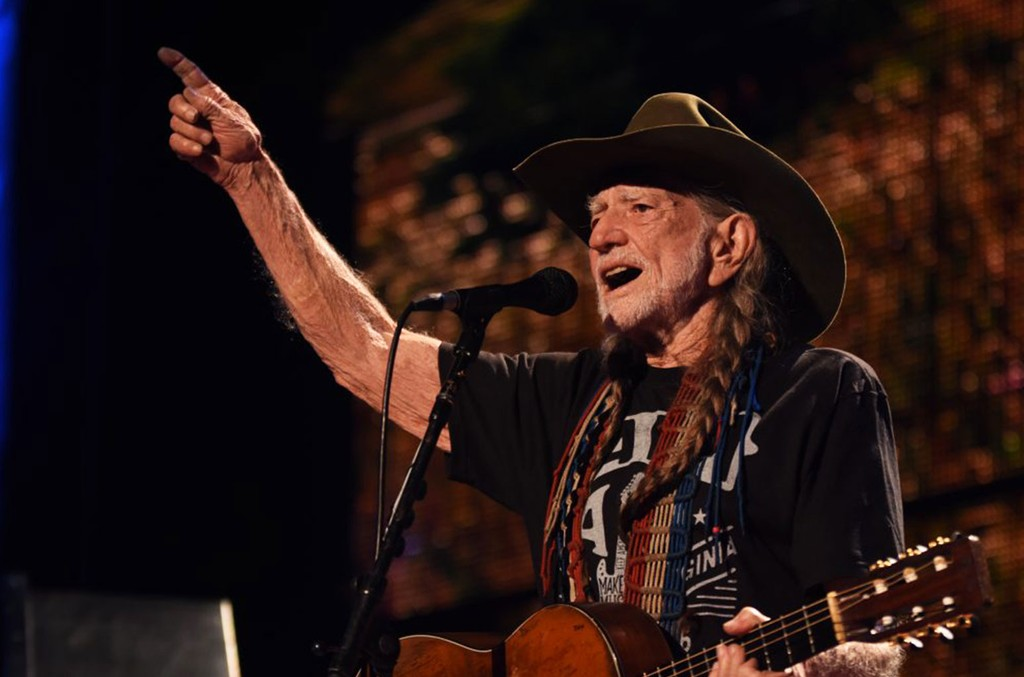 Willie Nelson photographed at Farm Aid in 2016.
