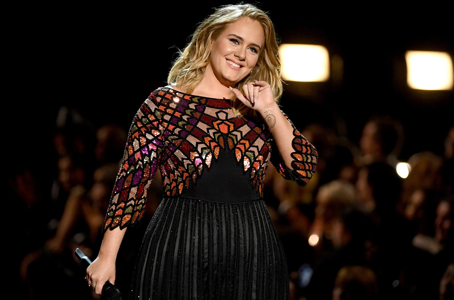 Adele performs during The 59th Grammy Awards at Staples Center on Feb. 12, 2017 in Los Angeles.