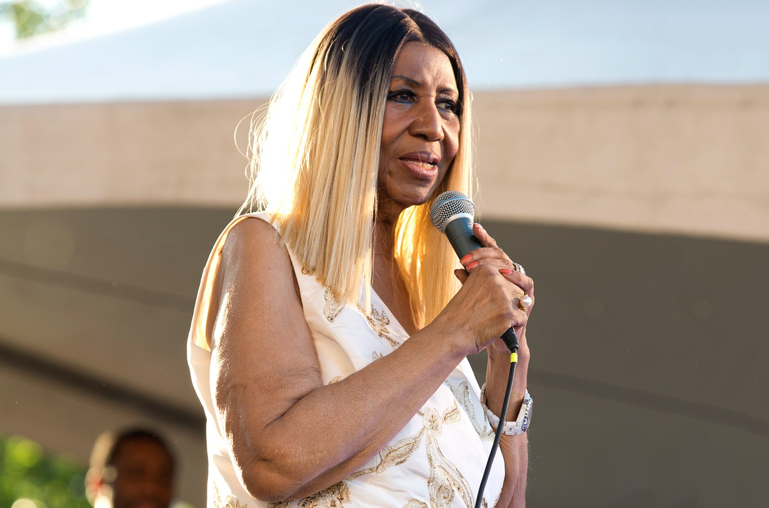 Aretha Franklin performs during the 2017 Detroit Music Weekend on June 9, 2017 in Detroit.