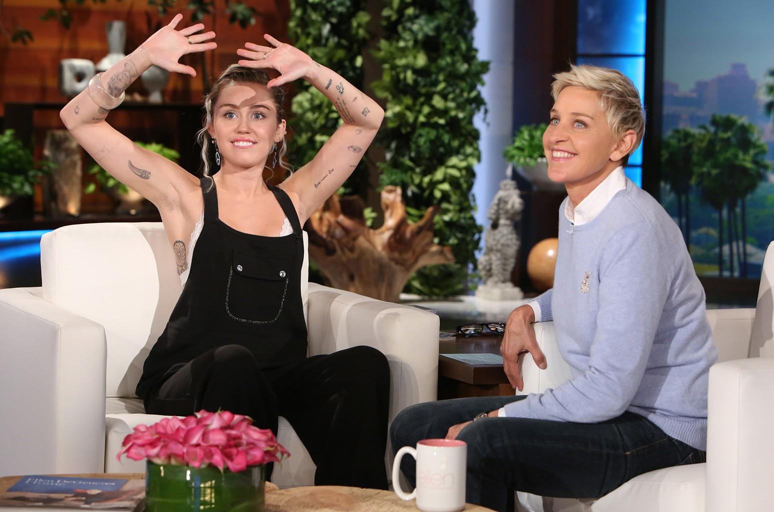 """Miley Cyrus joins """"The Ellen DeGeneres Show"""" on October 27, 2016"""