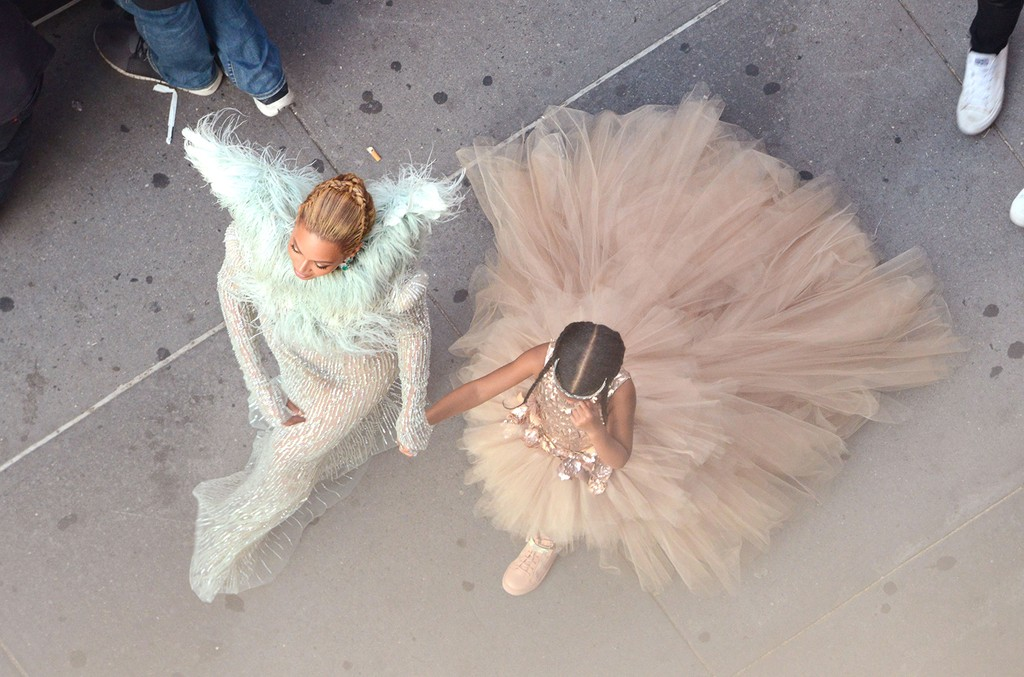 Beyonce and Blue Ivy Carter attend the 2016 MTV Video Music Awards