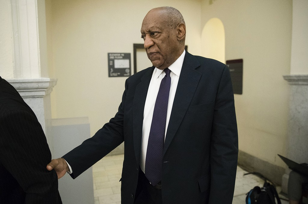 Bill Cosby walks to the courtroom during a break in his sexual assault trial at the Montgomery County Courthouse on June 6, 2017 in Norristown, Pa.