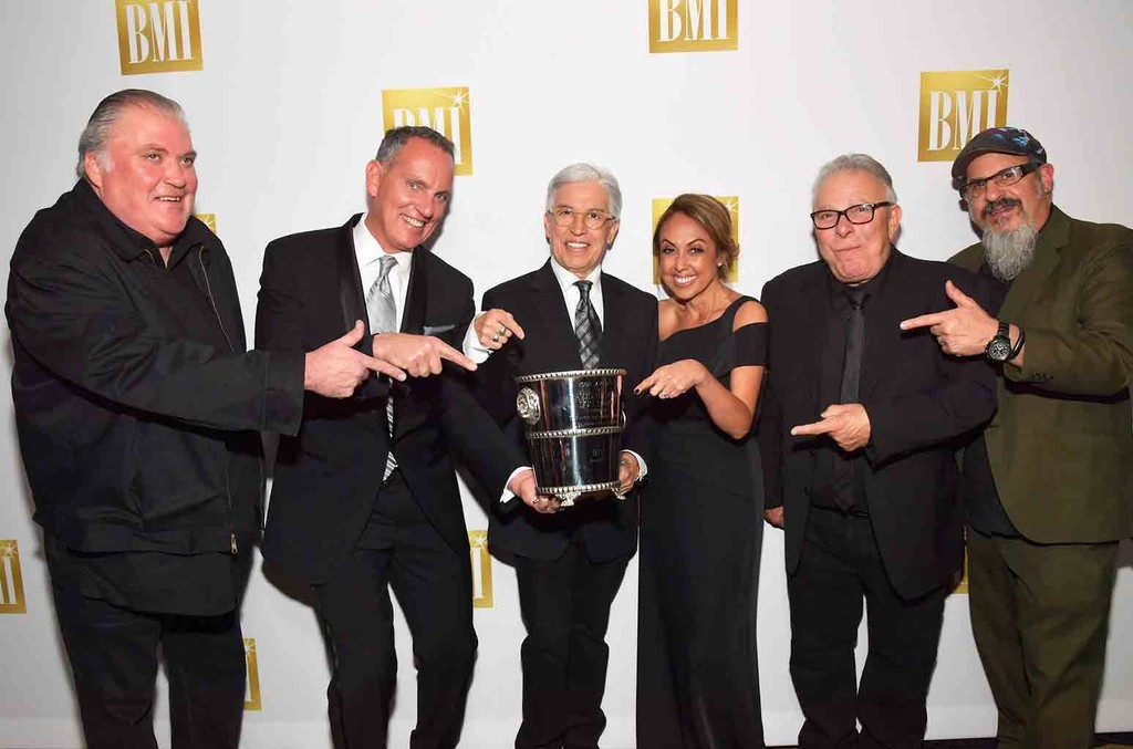 Louie Perez, Conrad Lozano, and Steve Berlin of music group Los Lobos at the 24th Annual BMI Latin Awards at the Beverly Wilshire Four Seasons Hotel on March 21, 2017 in Beverly Hills, Calif.